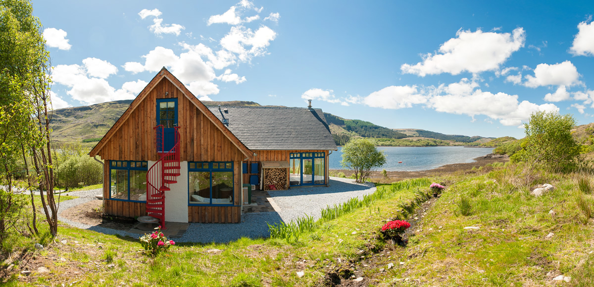 Self Catering holiday house in remote Rahoy Estate, Morvern on West Coast of Scotland