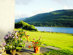 Views from self caterring cottages at Rahoy Estate Morvern on West Coast of Scotland
